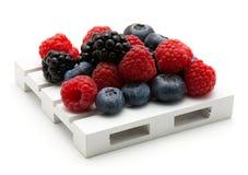 Смешивание изолированных ягод Стоковая Фотография