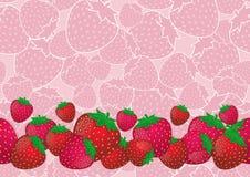 Смешивание клубники и розовая предпосылка клубники, безшовная картина Стоковые Изображения RF