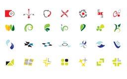 смешивание логоса Иллюстрация штока