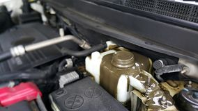 Смешивание масла двигателя с проблемами автомобиля охлажденной воды масла Стоковое Изображение RF