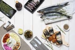 Смешивание морепродуктов стоковая фотография