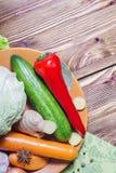 Смешивание различных зрелых овощей Стоковые Фото