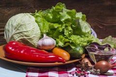 Смешивание различных зрелых овощей Стоковое Изображение