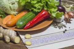Смешивание различных зрелых овощей Стоковые Изображения RF