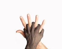 смешивание рук Стоковое фото RF