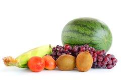смешивание свежее изолята плодоовощей на белизне Стоковая Фотография RF