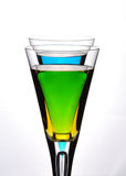 смешивание цвета коктеила Стоковое Фото