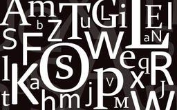 смешивание черного письма Стоковые Фотографии RF