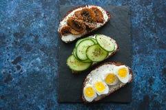 Смешивание bruschettas хлеба рож Стоковое Фото