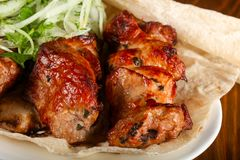 Смешивание Kebab стоковые изображения rf