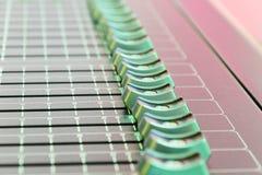 смешивать пульта тип нот s смесителя оборудования dj ядровый Стоковые Фотографии RF