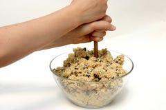 смешивать теста печенья стоковое изображение