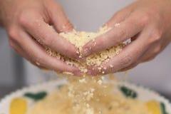Смешивая ванильные печенья shortbread Стоковое Изображение RF