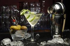 смешивая коктеил содержит транспарант режимов martini изображения eps10 различный Стоковое Фото