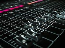Смешивая консоль на студии звукозаписи Стоковые Фото