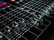Смешивая консоль на студии звукозаписи Стоковое Фото
