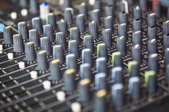 Смешивая soundboard Стоковая Фотография RF