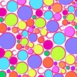 Смешная абстрактная предпосылка: красочные шарики - яркая текстура в стиле искусства шипучки Стоковые Фото