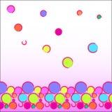 Смешная абстрактная предпосылка: пестротканые шарики расположенные на дне изображения как граница - яркая текстура Стоковое Изображение RF