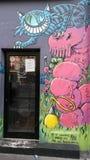 Смешная дверь в Париже Стоковые Фото