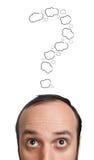 смешная головка ванты его метка над детенышами вопроса Стоковое фото RF
