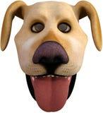 Смешная голова собаки шаржа Стоковые Изображения