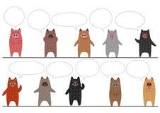 Смешная граница хряков с пузырями речи иллюстрация вектора