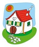 смешная дом Стоковое Фото