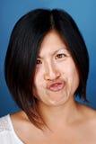 Смешная девушка китайца стороны стоковое фото