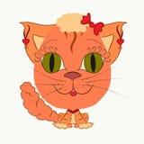 Смешная девушка кота Стоковое Изображение RF