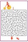 Смешная игра лабиринта для детей дошкольного возраста Стоковое Изображение