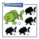 Смешная игра рыб тени Стоковая Фотография