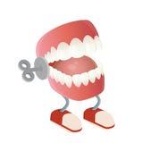 Смешная игрушка зубов тараторить Стоковые Фото