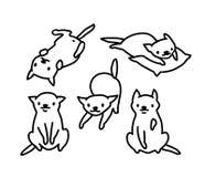 Смешная иллюстрация вектора кота Художественное произведение нарисованное рукой стоковое изображение