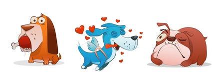 Смешная иллюстрация шаржа собак Стоковые Фотографии RF