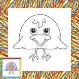 Смешная и милая ворона Стоковая Фотография