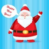 Смешная и милая рождественская открытка с Сантой Стоковые Изображения