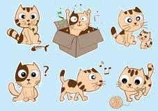 Смешная иллюстрация вектора кота Стоковая Фотография RF