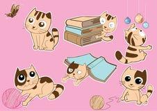 Смешная иллюстрация вектора кота Стоковая Фотография