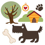 Смешная иллюстрация вектора собаки Стоковые Изображения RF