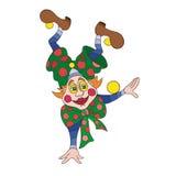 Смешная иллюстрация вектора характера клоуна Стоковая Фотография RF