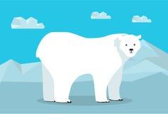 Смешная иллюстрация полярного медведя Стоковая Фотография
