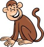 Смешная иллюстрация шаржа обезьяны Стоковые Изображения