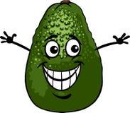 Смешная иллюстрация шаржа плодоовощ авокадоа Стоковые Изображения RF