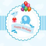 Смешная карточка с днем рождения Стоковое фото RF