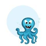 Смешная концепция осьминога шаржа с пустой рамкой Стоковое Изображение RF