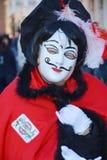 Смешная красная маска, Венеция, Италия, Европа, конец вверх Стоковые Изображения RF
