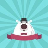 Смешная меланхоличная гигантская панда Стоковое фото RF