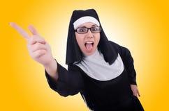 смешная монахина Стоковая Фотография