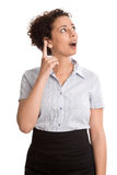 Смешная молодая бизнес-леди - изолированная в юбке и блузке с I Стоковое Изображение